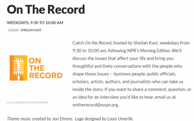 On the Record, Hosted by Sheilah Kast